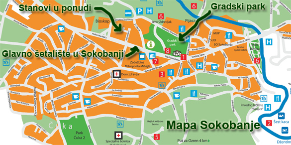 mapa sokobanje